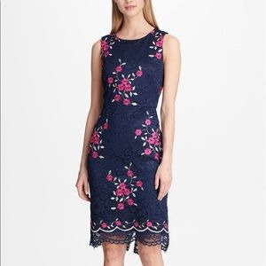 "NWT ""DKNY"" FLORAL EMBROIDERED DRESS SIZE 6"